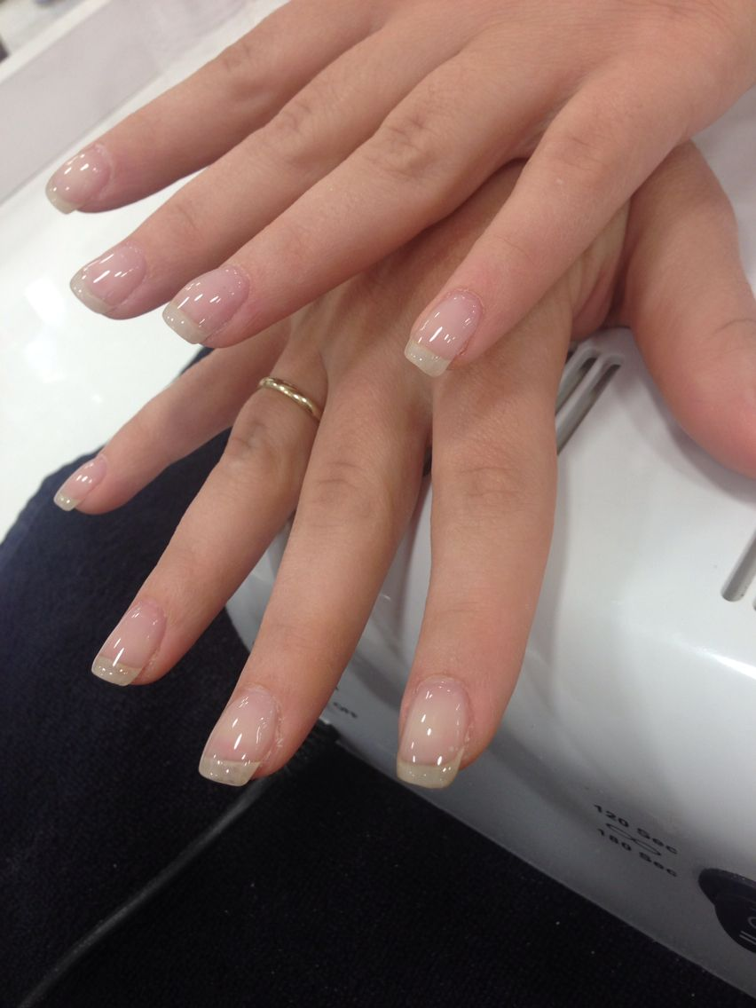Gel Overlay 2 Pink Gel Nails Hard Gel Nails Clear Gel Nails