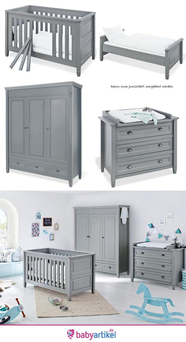 Baby Kinderzimmer Pinolino Grau Holz, Babyzimmer Inspiration