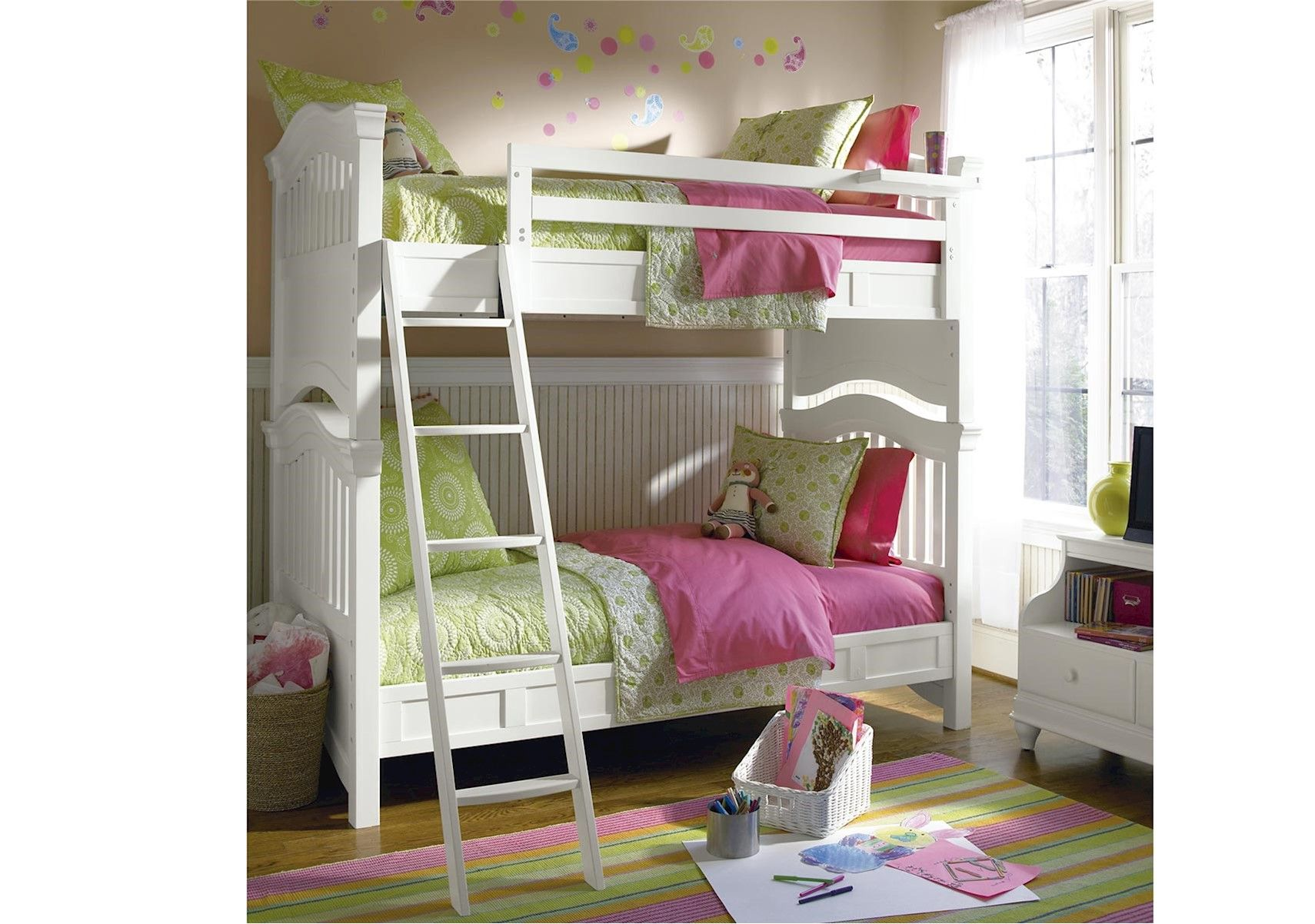 Lacks Classics 4.0White Bunk Bed White bunk beds