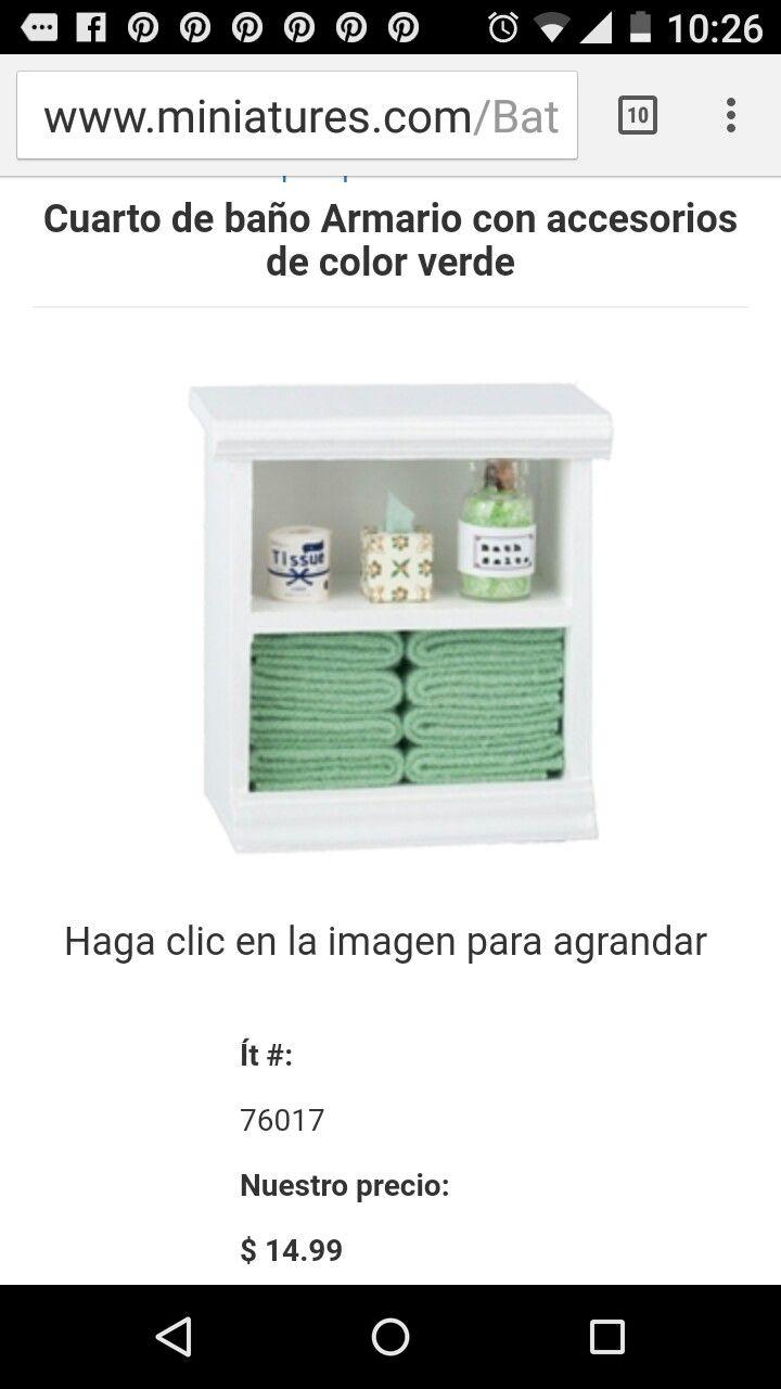 Pin de Lucero Ramos en miniaturas   Armarios de baño ...