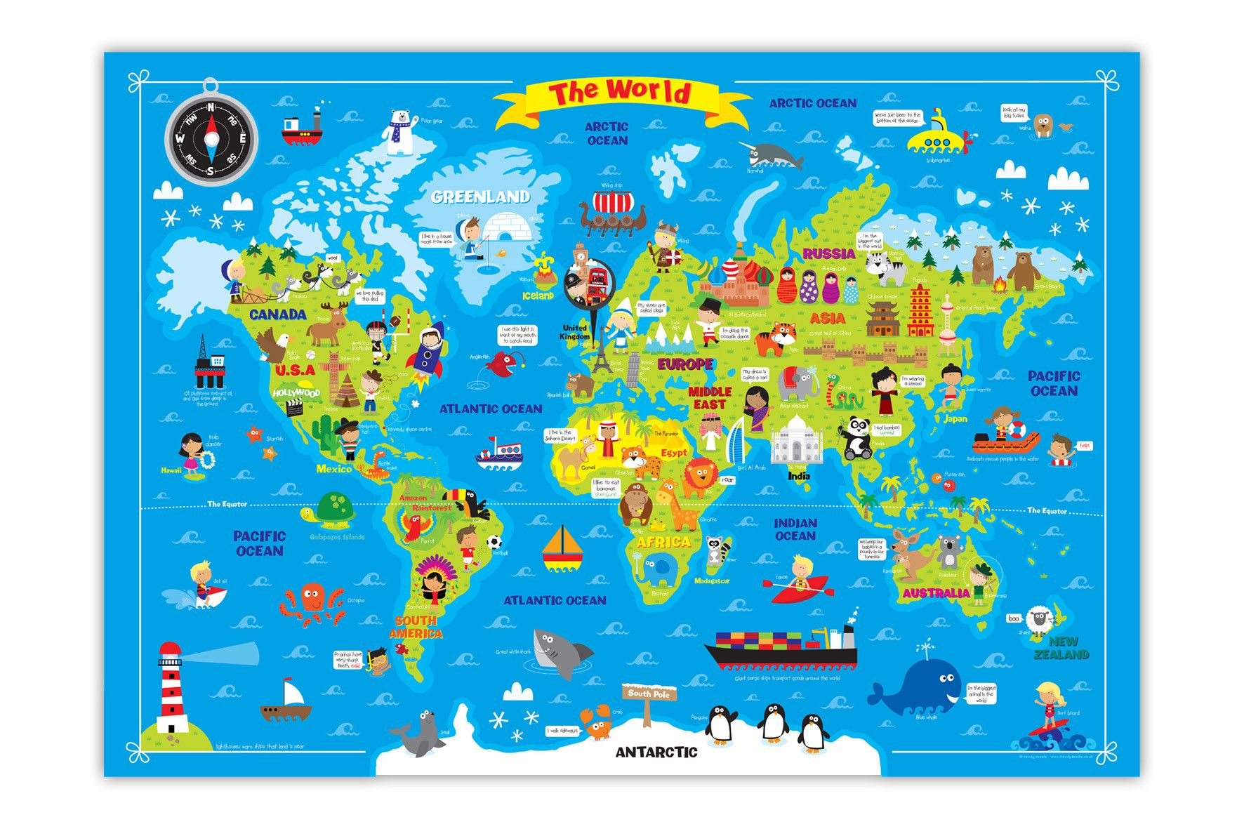Pin by n a t a y a on map maker pinterest travel posters my first world map by howdydoodle on etsy gumiabroncs Gallery