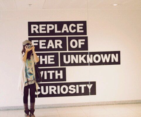 Something to think about. Searching your curiosity takes courage.