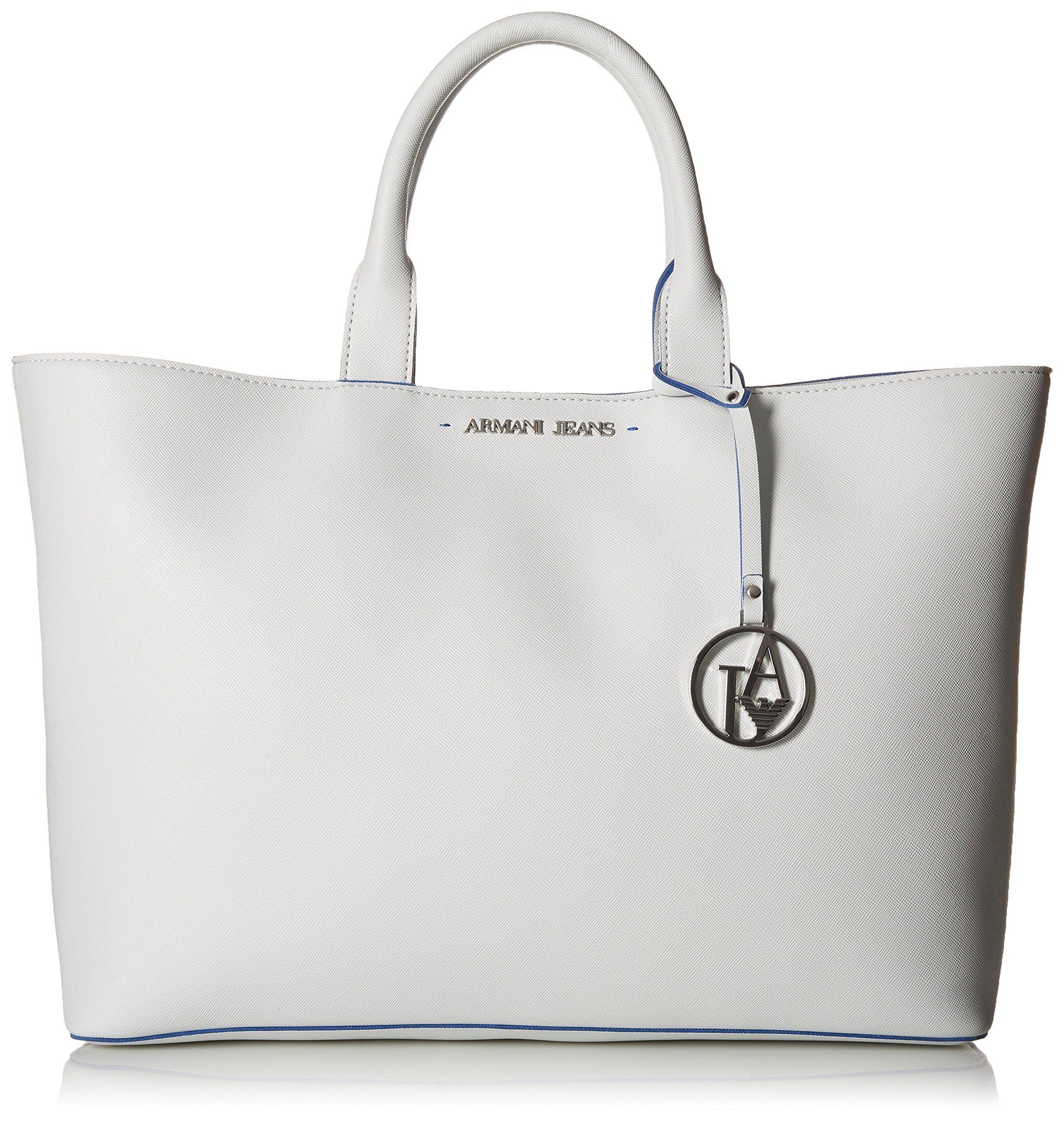 6e57dfc28797 Armani Jeans Large Eco Saffiano Tote Shoulder Bag