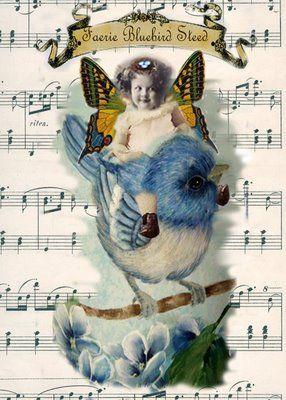 /fairy+steed. atc  digital collage