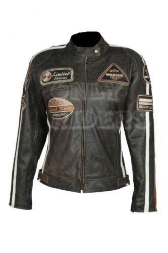 Veste biker femme cuir