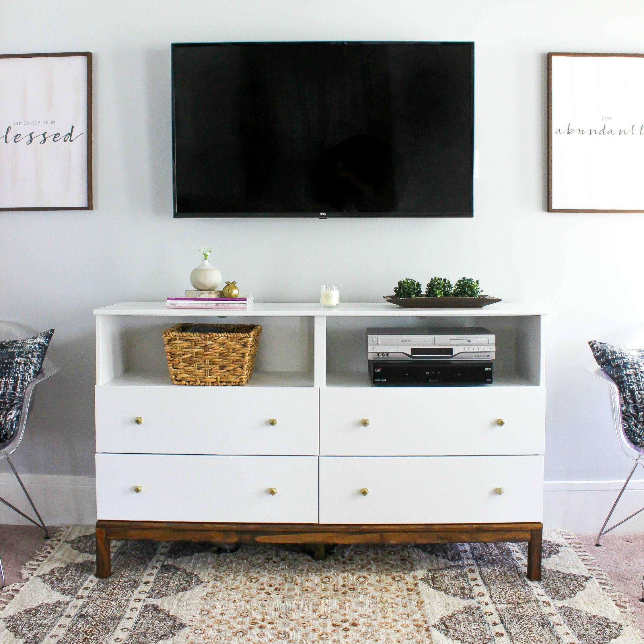 IKEA Dresser to TV Stand Transformation | Ikea dresser, Tv stands ...