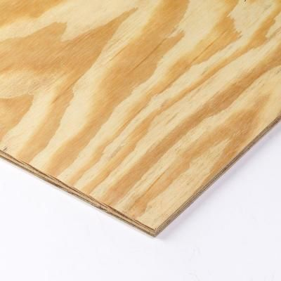 Plywood Siding Panel No Groove Common 11 32 In X 4 Ft X 8 Ft Actual 0 313 In X 48 In X 96 In 200353 The Home Depot Pine Plywood Plywood Sheathing Plywood