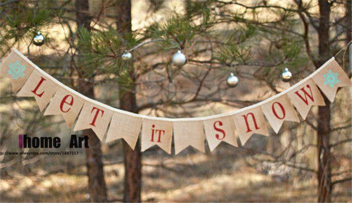 image result for christmas banner burlap - Burlap Christmas Banner