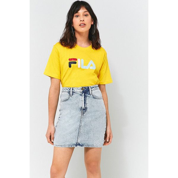 fila yellow top. fila eagle yellow t-shirt ($32) ❤ liked on polyvore featuring tops, fila top m
