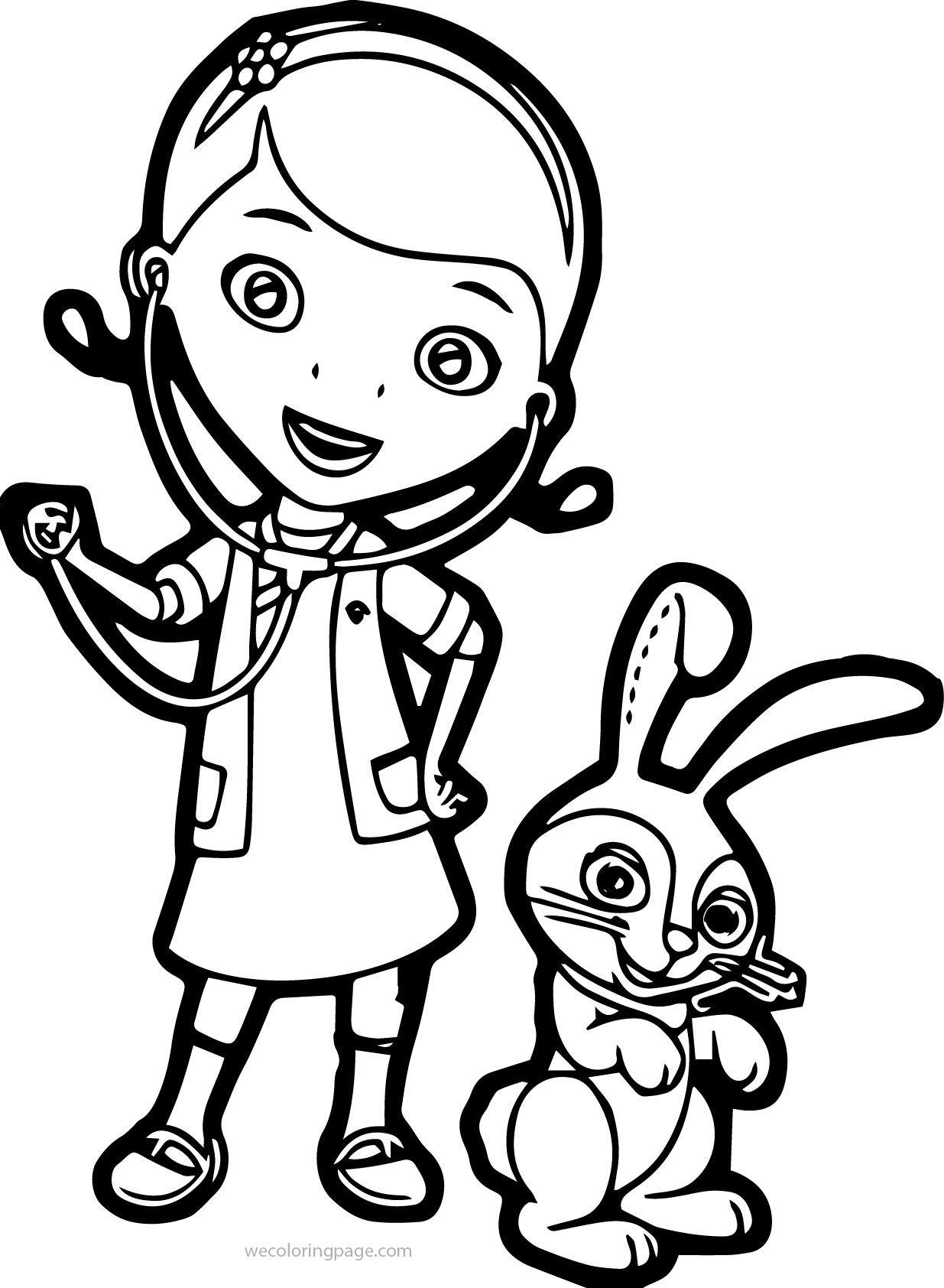 Free printable coloring pages veterinarians - Doc Mcstuffins Pet Vet Bunny Coloring Page