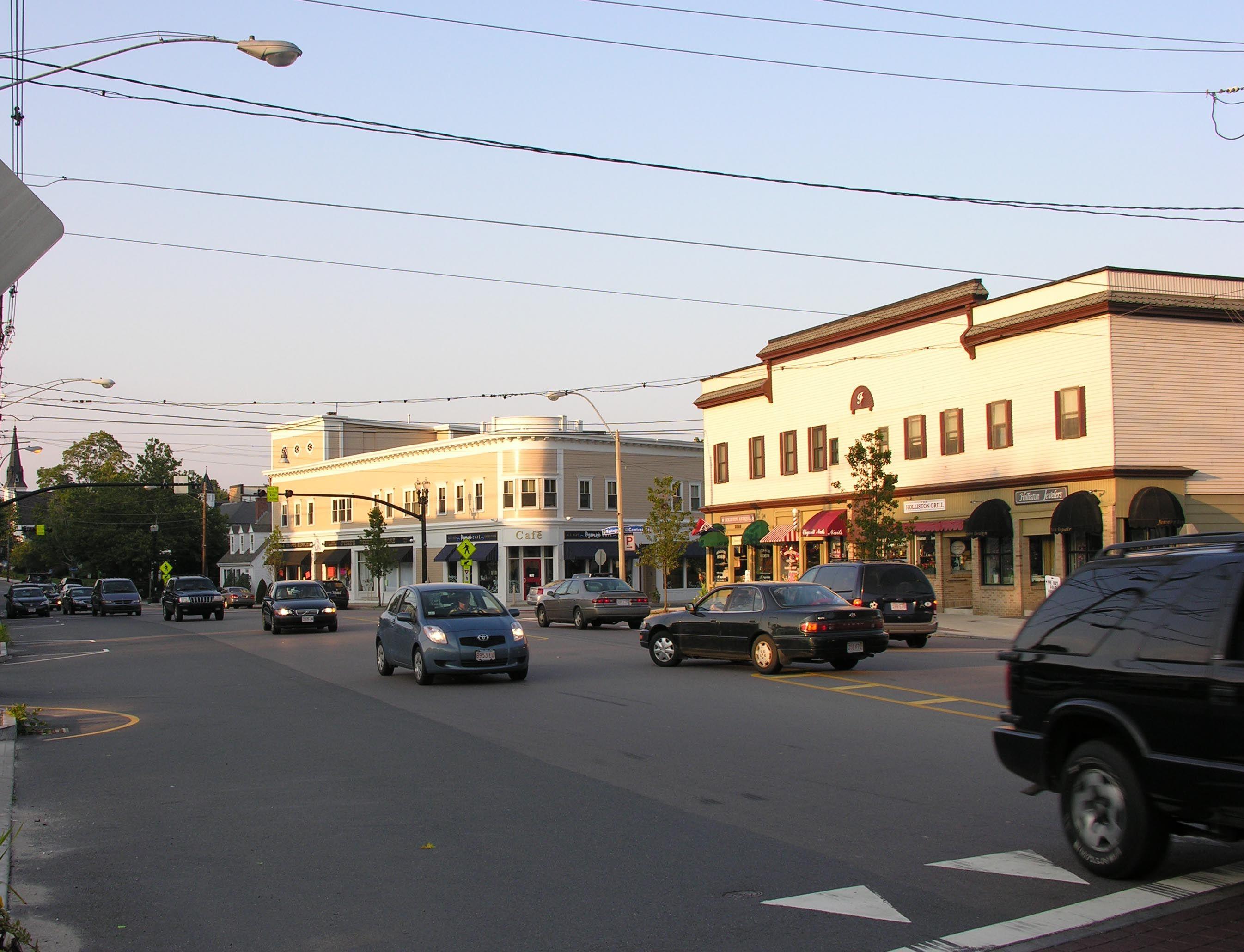 Downtown Holliston Ma