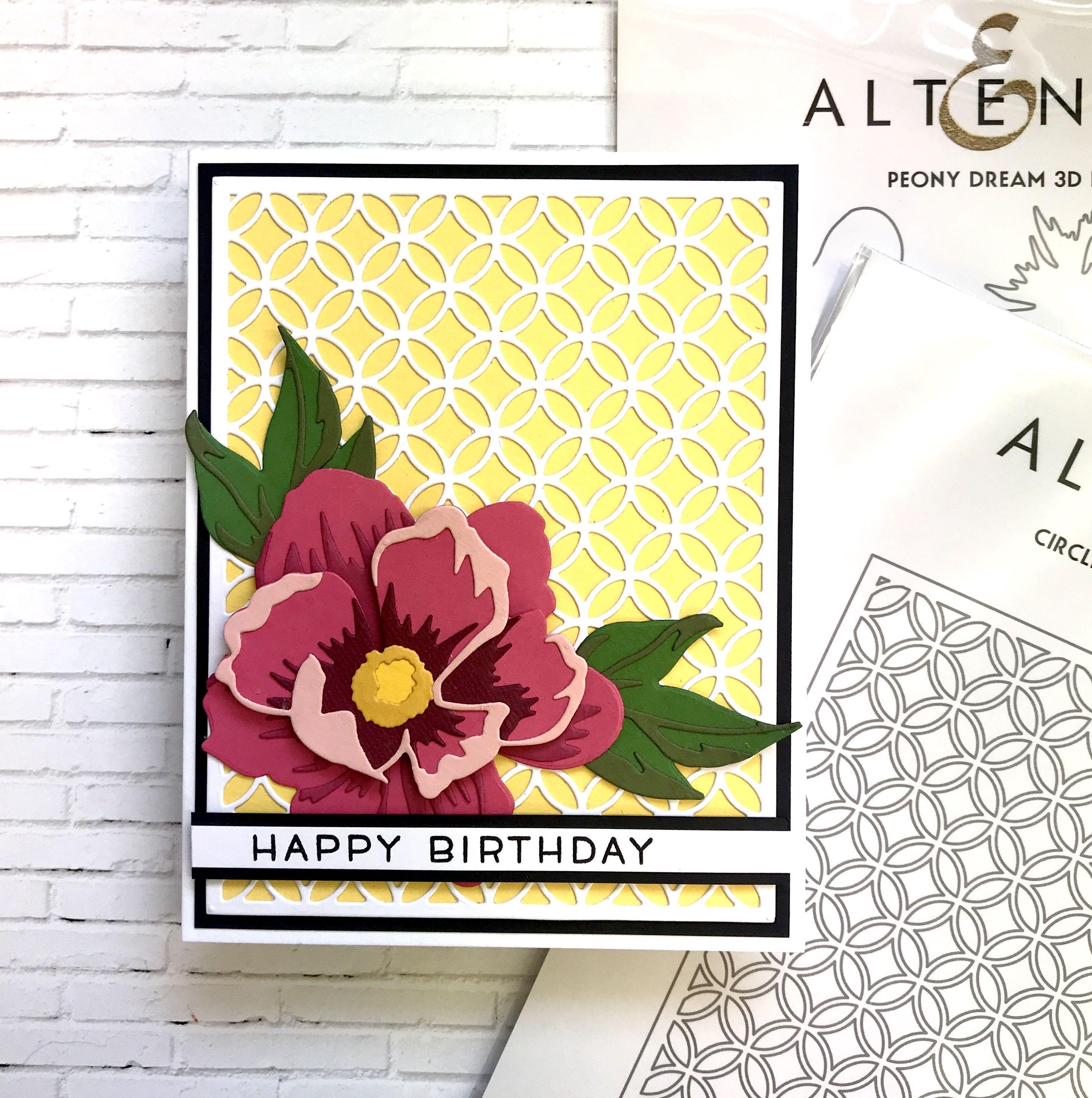 Altenew 3d Flower Dies Card Trending Decor Interior Design Living Room Cards Handmade