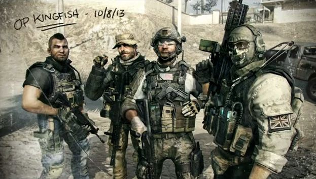 Call of Duty Modern Warfare 3 Soap, captain Price, Sandman, and