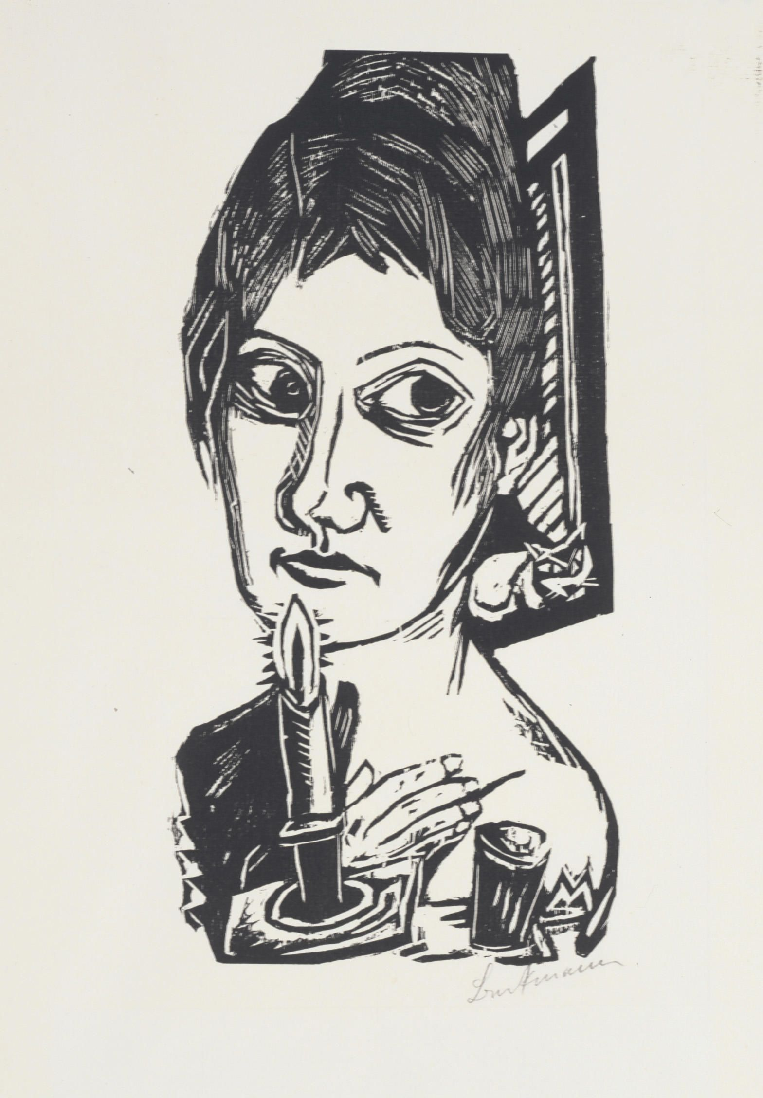 Max Beckmann, woodcut