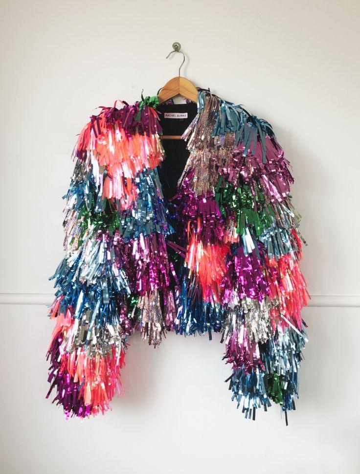 Neon Jacket Special #fashion #design #glitter #fashiondesign