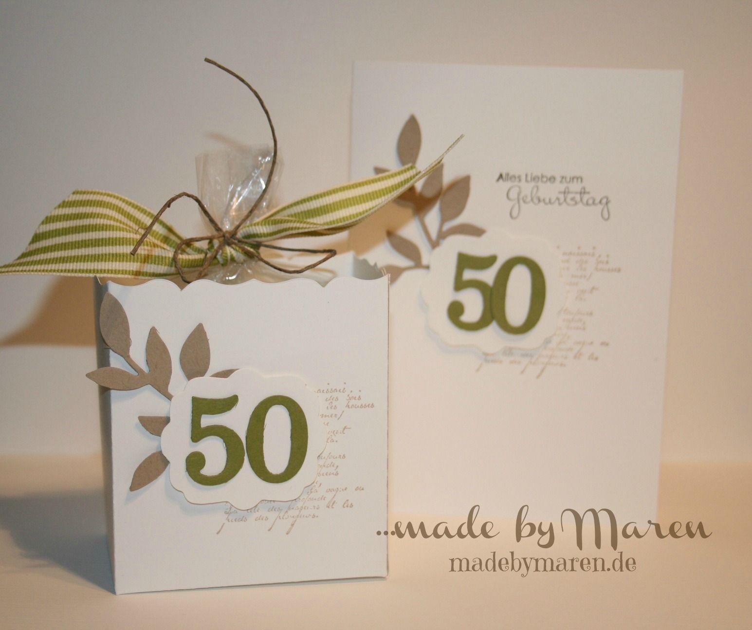 Stampin Up Geldgeschenk Männer Geschenkset 50 Geburtstag