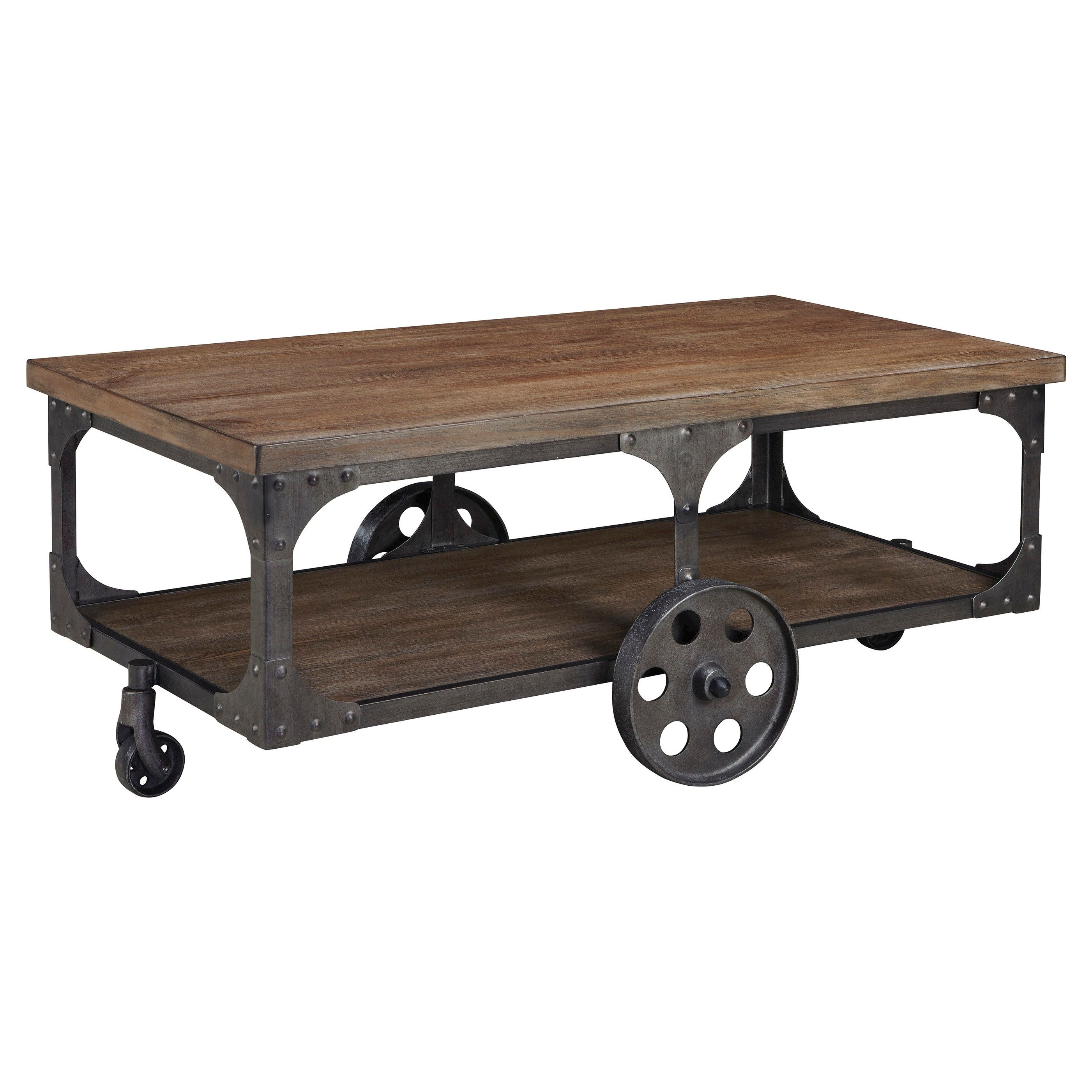 Vedel Industrial Loft Zinc Wood Rectangle Coffee Table: Sometimes Natural Beauty And Interior Design Go Hand In
