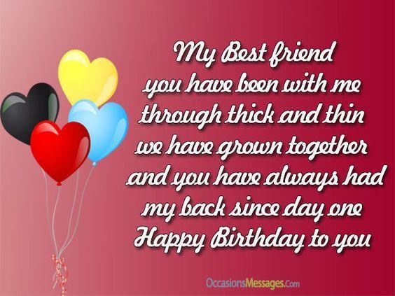 My Message Friend Best Birthday Happy