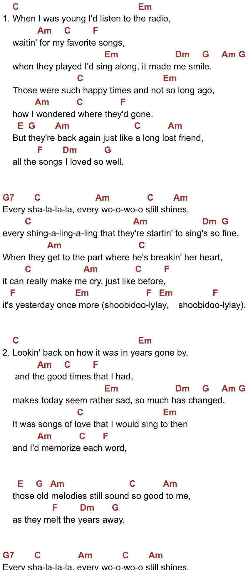 Pin By Pencil Studio On Ukulele Carpenters Songs Ukulele Songs Great Song Lyrics