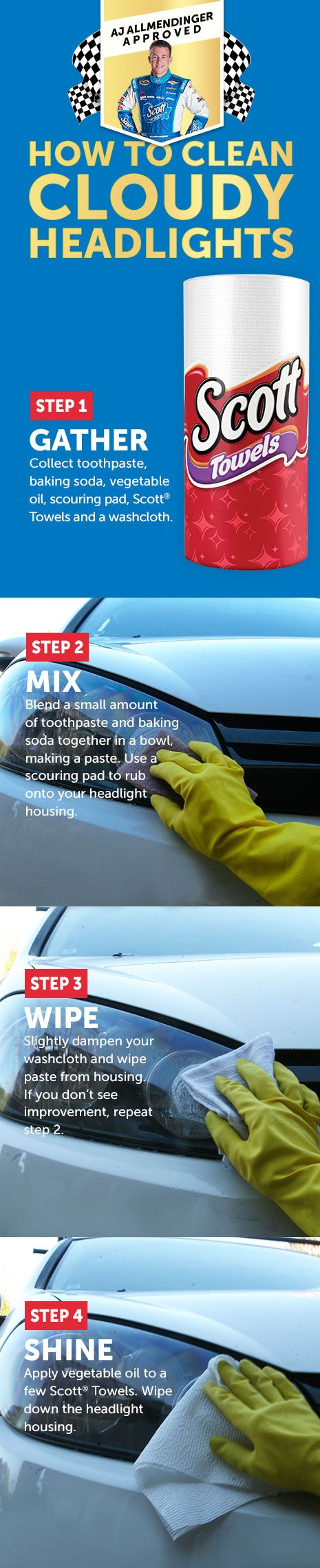 It s easy and cheap to clean them at home and you have everything you need in your kitchen make your car shine like new again with toothpaste