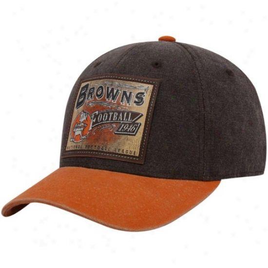 dddd33bb Cleveland Browns Hats : Reebok Cleveland Browns Brown Pro Shape Flex ...