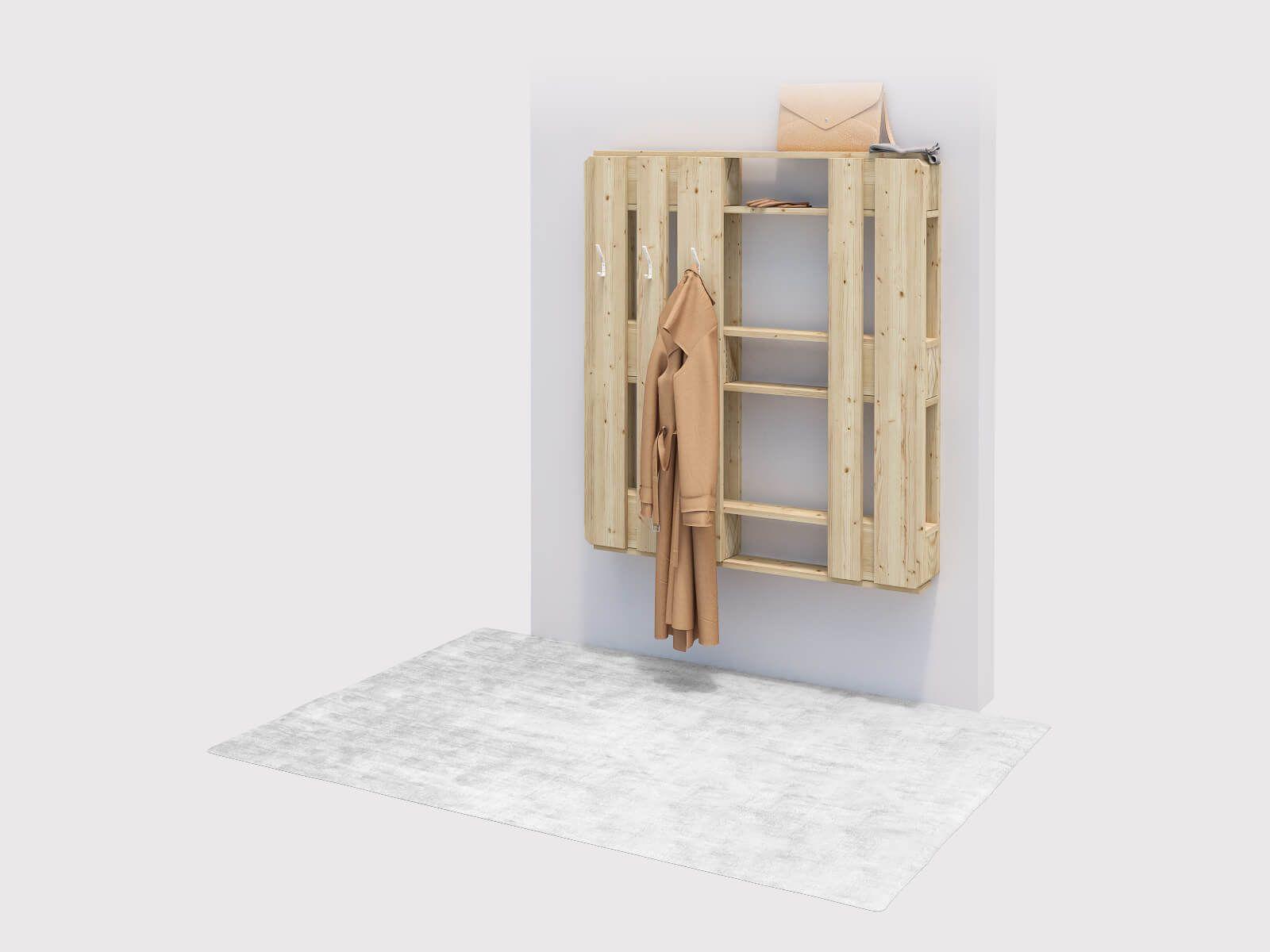 Garderobe Dienlich Selber Bauen Alle Mobel Wandgarderobe