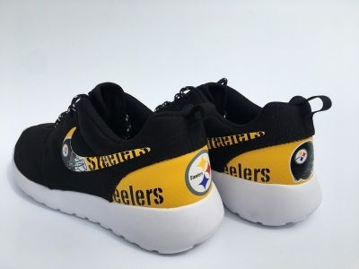 2fabb6c5e9a3 ... Men Women Kid 2017 Pittsburgh Steelers Shoes Nike Roshe Running  Sneakers 1 of ...