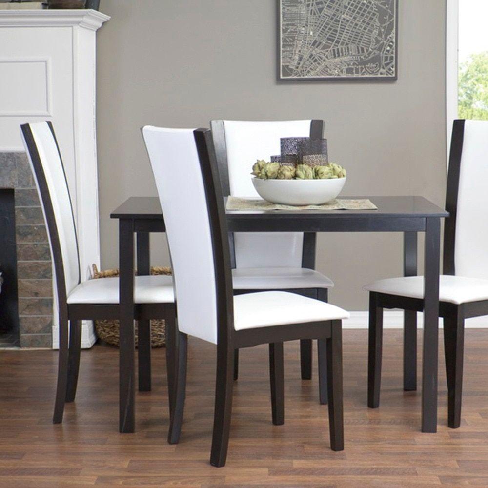 Baxton Studio Rinko Parson White Wood Modern Dining Chair Set of