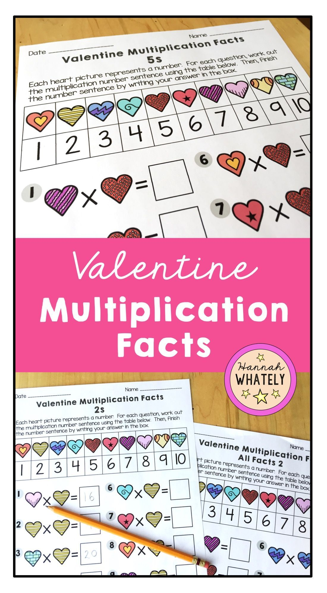 Valentine Multiplication Facts