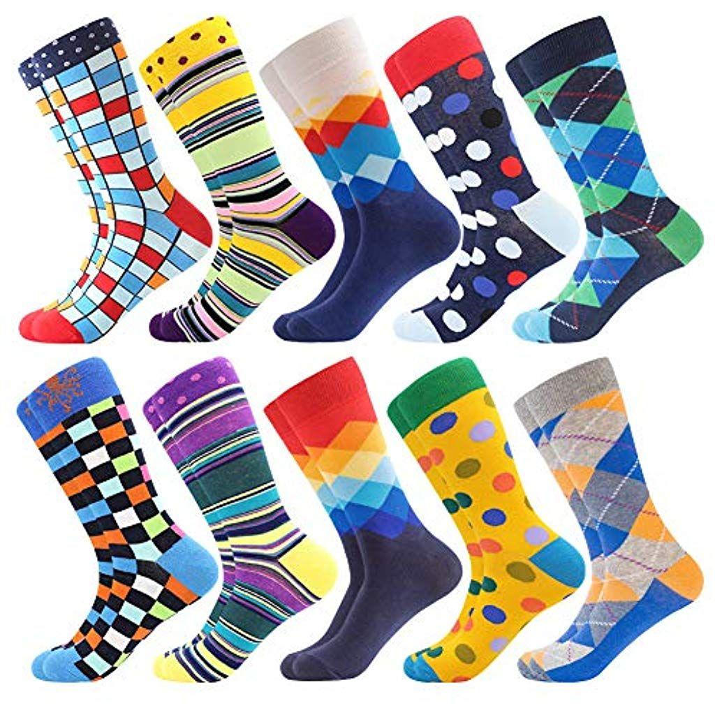Neuheit Sneaker Crew Socken Verr/ückte Socken Modische Mehrfarbig Klassisch als Geschenk BONANGEL Herren Lustige Bunte Socken,Herren witzige Str/ümpfe Fun Gemusterte Muster Socken