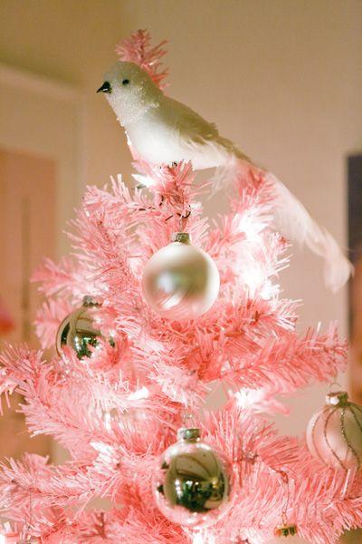 Pretty pink Christmas tree