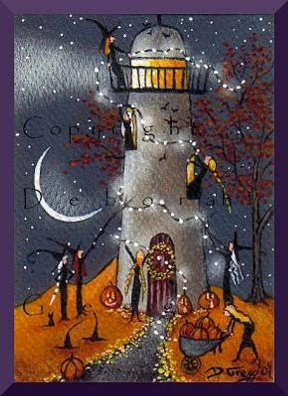Definitely Needs Some Work, a tiny Lighthouse Witches Decorate For