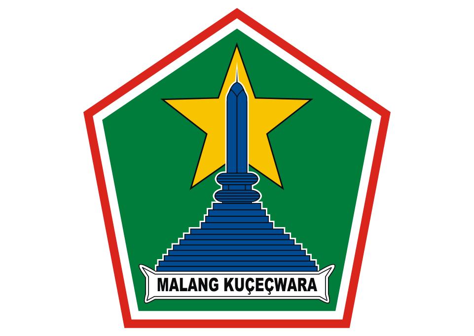 Logo Kota Malang Vector Desain Tipografi Seni Tipografi
