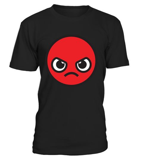 Kawaii Angry Face Red T Shirt Anime Capsule Corp Cartoon Dbz