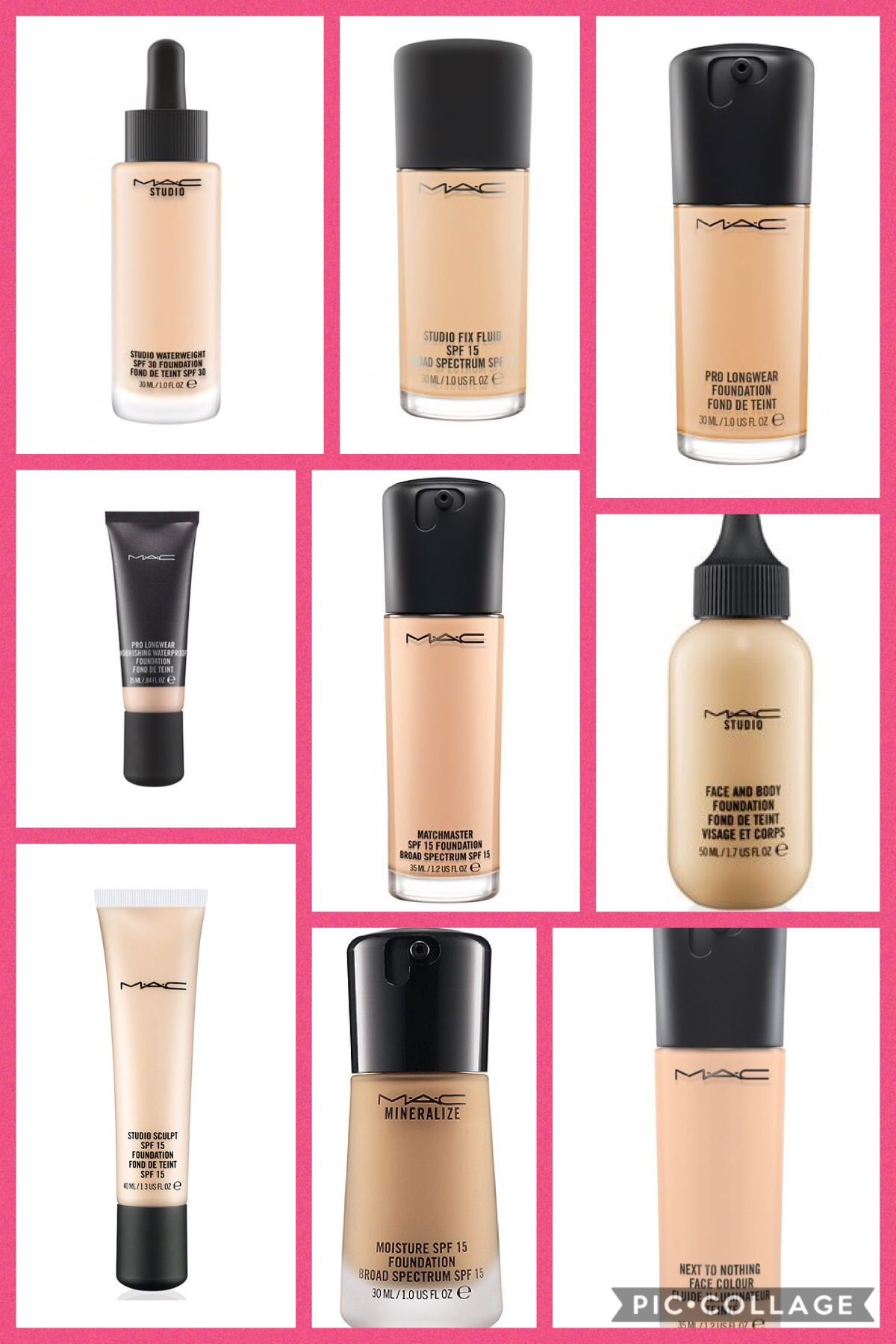 mac foundations Mac makeup foundation, Mac makeup