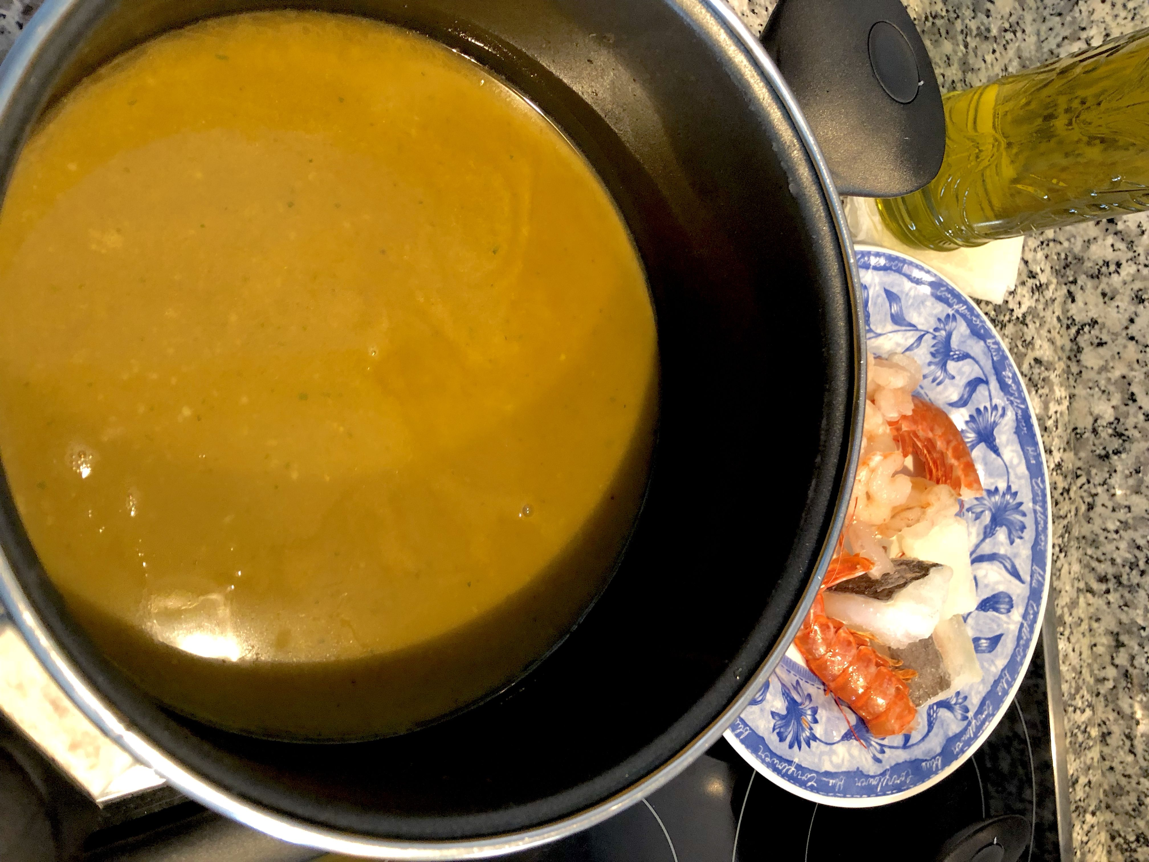Fumet de gambón y pescado | Receta | Recetas de comida. Robot de cocina. Pescado
