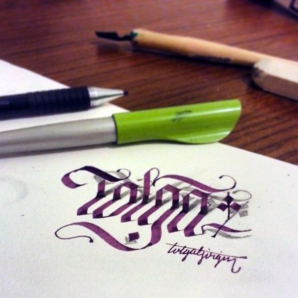 Letters Leap Off The Page In 3D Calligraphy By Tolga Girgin.