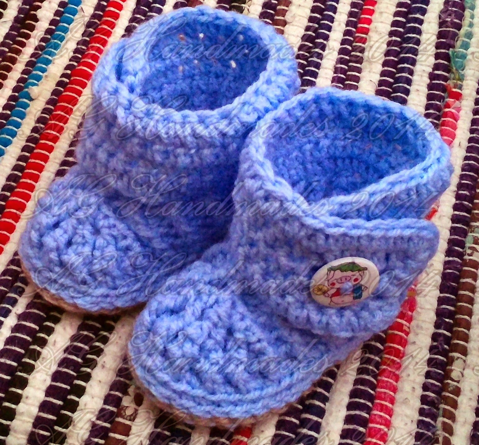 AG Handmades: Bryce Baby Booties | baby booties | Pinterest ...