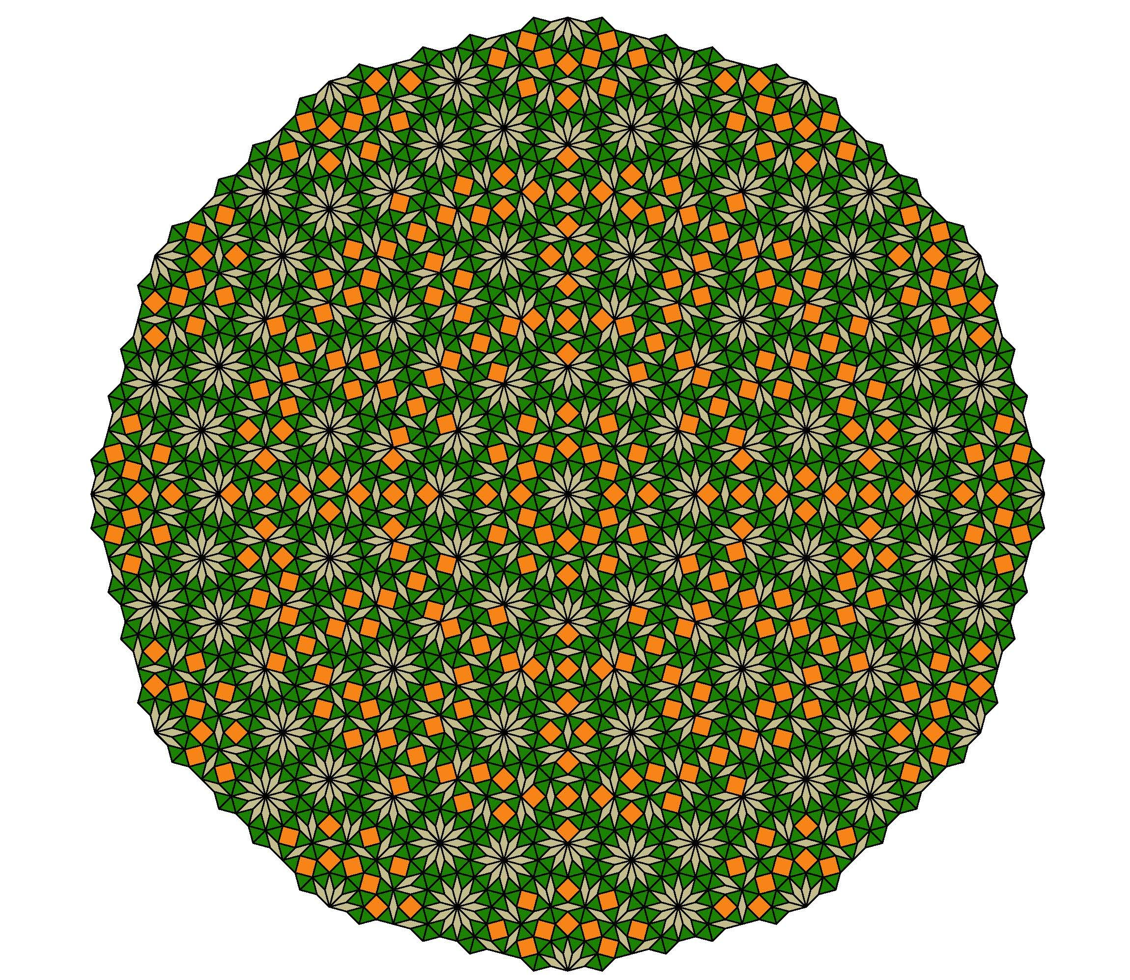 Mandala from the fourth simple nonperiodic tiling using pattern mandala from the fourth simple nonperiodic tiling using pattern blocks inflation level 2 dailygadgetfo Images