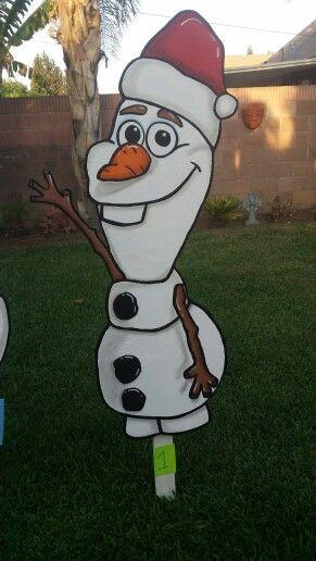 Olaf yard sign Christmas Disney Style Pinterest Olaf, Yards - disney christmas yard decorations