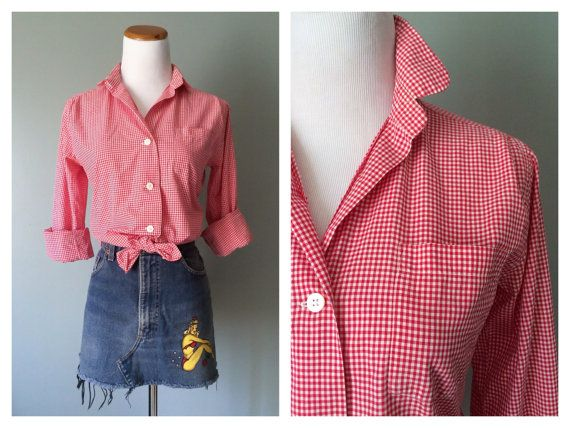 Red Polka Dot Shirt Womens