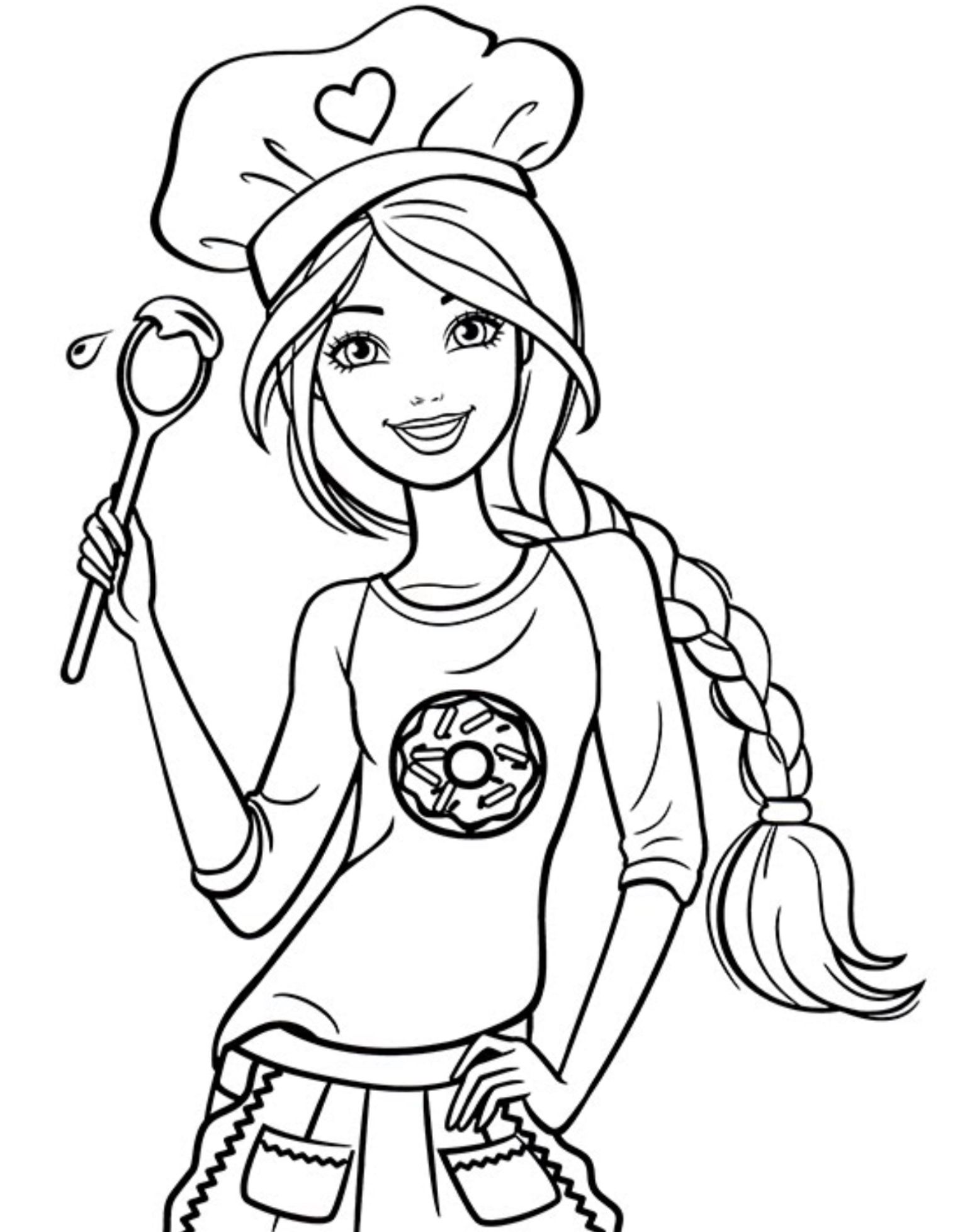 Chef Barbie Coloring Page Barbie Coloring Pages Princess Coloring Pages Barbie Drawing
