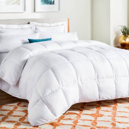 Linenspa All Season Reversible Down Alternative Microfiber Comforter Walmart Com Cool Comforters Duvet Bedding Fluffy Comforter