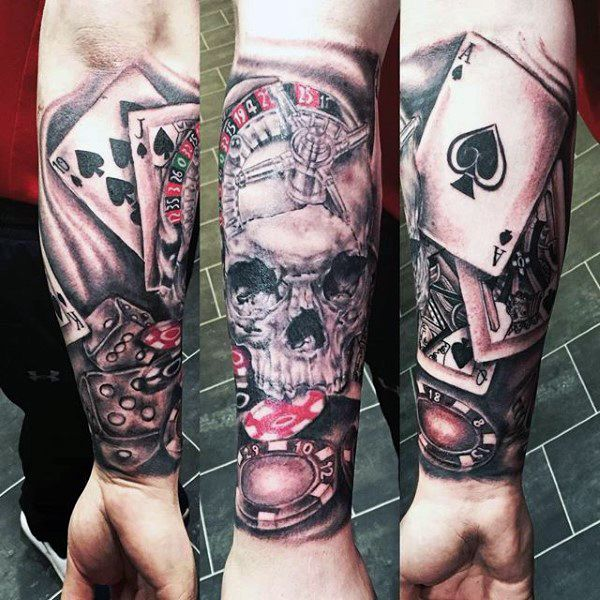 Playing Card Tattoos Lucky Design Ideas With Images Playing