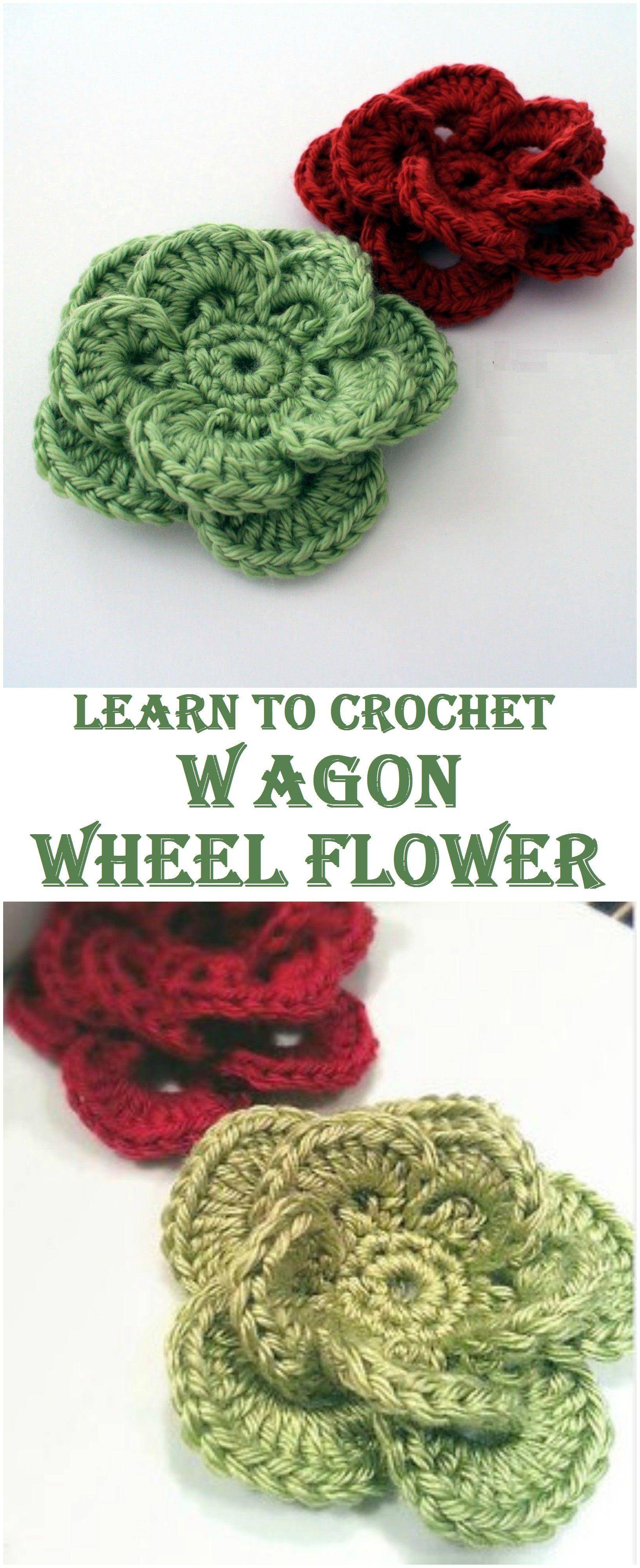 Crochet Wagon Wheel Flower | crochet hogar | Pinterest | Ganchillo ...