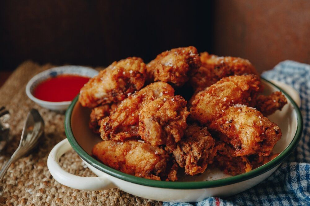 Buttermilk Fried Chicken Wings With Hot Sauce Farm To Fork In 2020 Buttermilk Fried Chicken Chicken Wings Chicken
