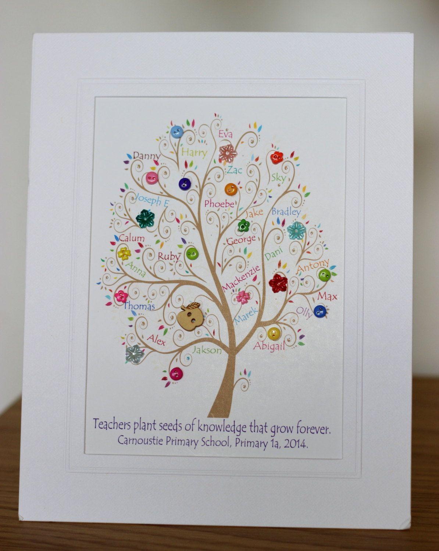 Mini Button Class Tree   Teacher retirement gift ideas   Pinterest ...