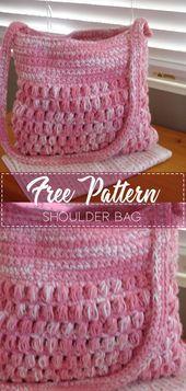 Photo of Shoulder Bag – Pattern Free – Easy Crochet  Shoulder Bag – Pattern Free …