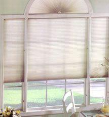 Levolor Accordia Designer Textures W Energy Shield Cellular Shade Single Cellular Shades Cellular Shades Arched Window Treatments Arched Windows