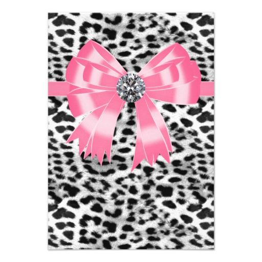 Pink Black Pink Leopard Party RSVP Template Personalized - party rsvp template